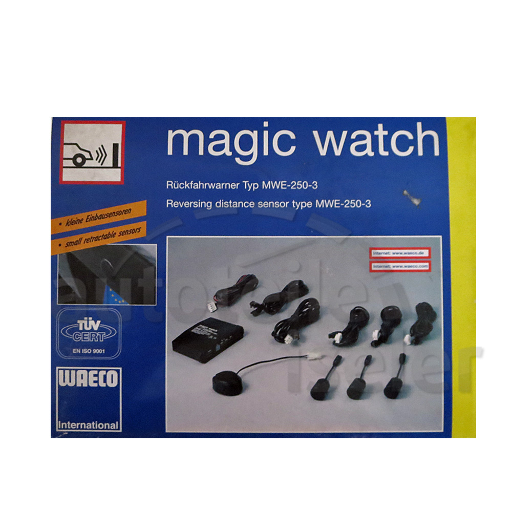 waeco magic watch r ckfahrwarner mwe 250 3 mit 3 einbausensoren einparkhilfe ebay. Black Bedroom Furniture Sets. Home Design Ideas